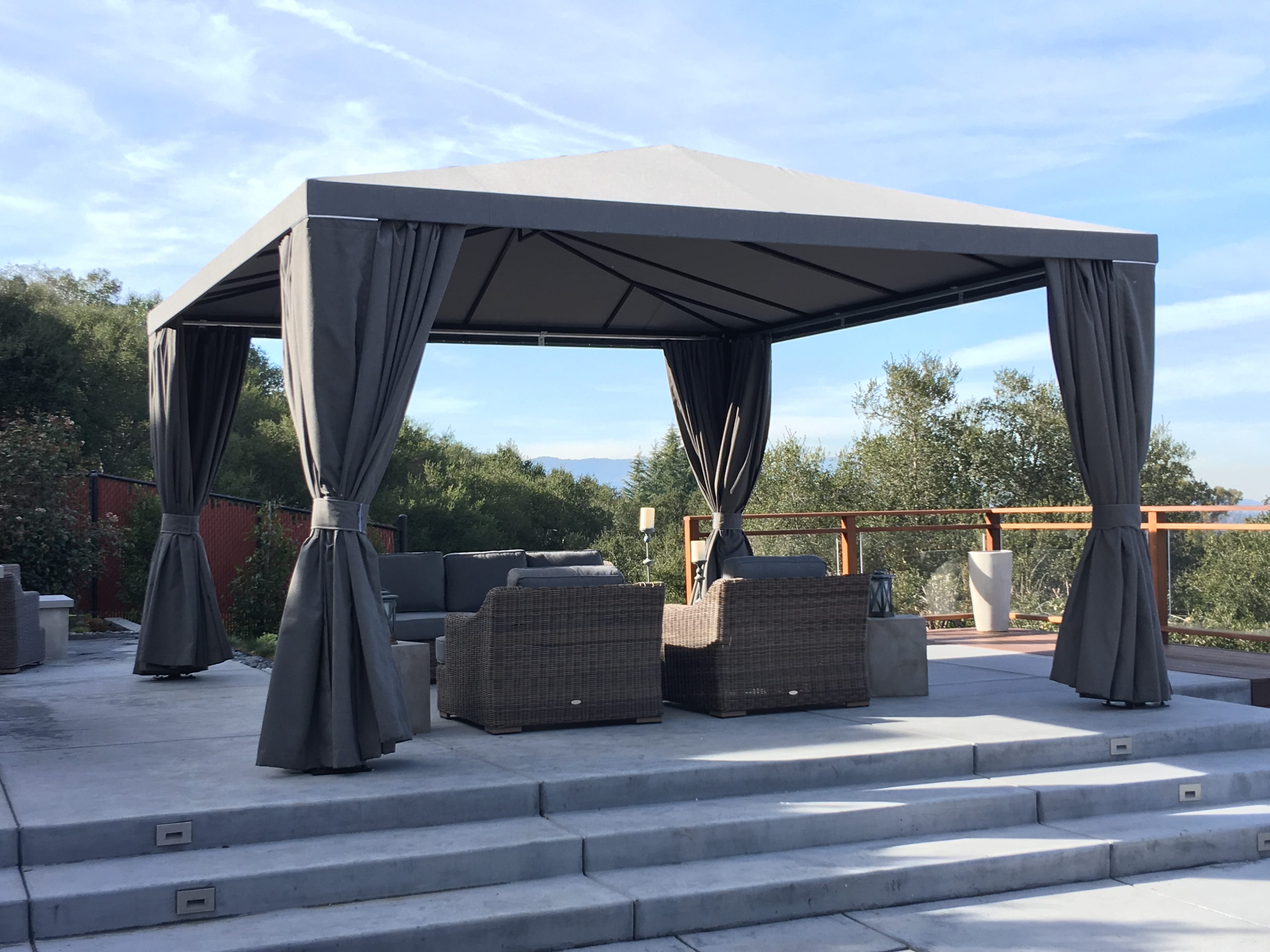 What Are Free Standing Canopies/Cabanas? & Sunset Canvas u0026 Awning - Fabric Awnings Retractable Awnings ...
